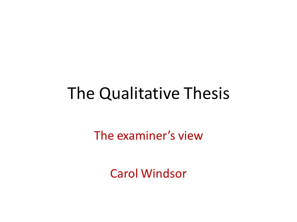 QUT examiner guidelines Expected to show evidence of: originality of the research data and/or analysis of data coherence of argument and presentation competence in technical and conceptual analysis contextual competence But what does it mean?