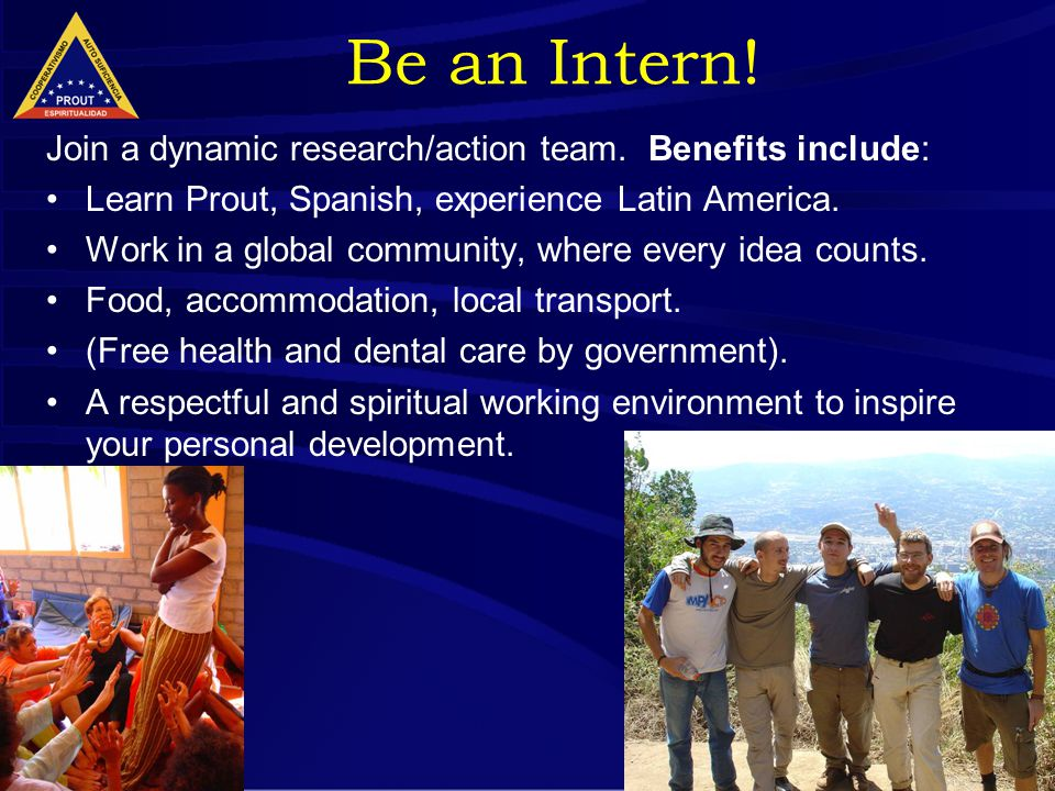 21 Be an Intern. Join a dynamic research/action team.
