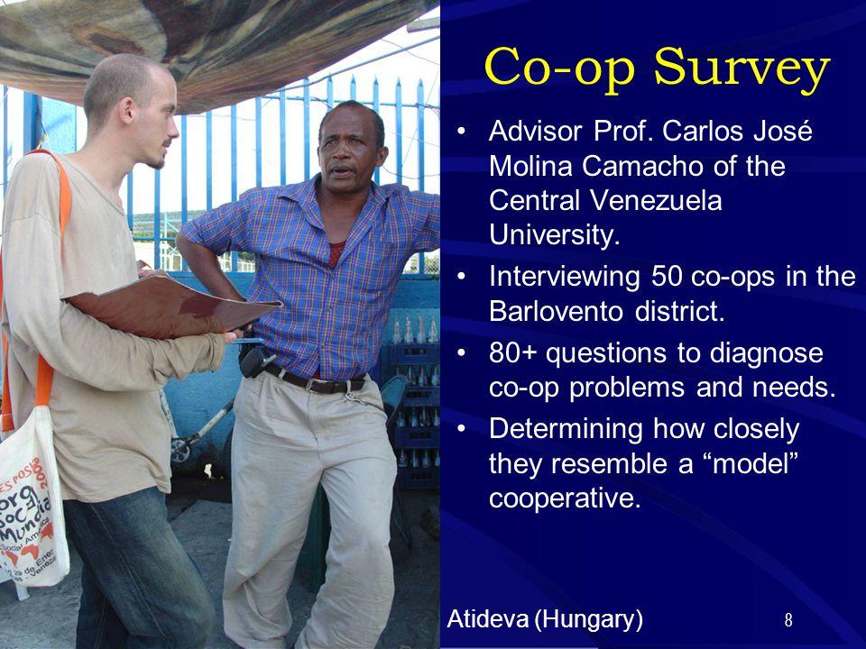 8 Co-op Survey Advisor Prof. Carlos José Molina Camacho of the Central Venezuela University.