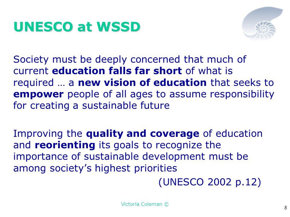 Victoria Coleman © 19 The UNESCO Draft Framework How does it interpret EFSD.