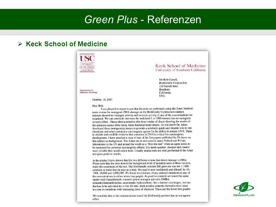 Green Plus - Referenzen  Keck School of Medicine