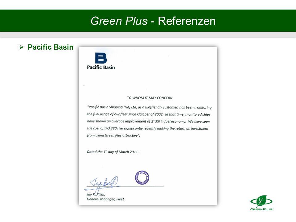 Green Plus - Referenzen  Pacific Basin