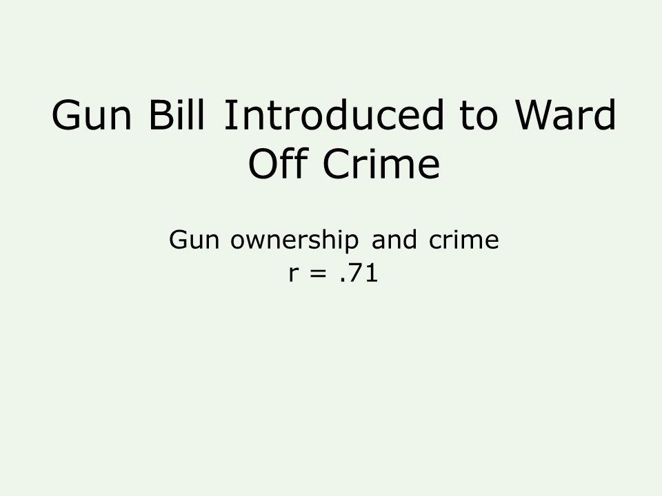 Gun Bill Introduced to Ward Off Crime Gun ownership and crime r =.71