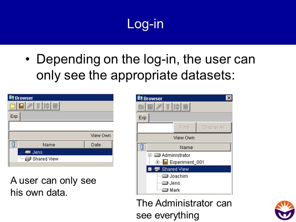 """How to start.All data are stored in an """"Experiment inside the database."""