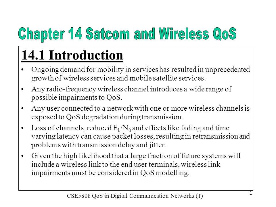 CSE5808 QoS in Digital Communication Networks (1) 22 Cloud Vapour Losses – Staelin/CCIR