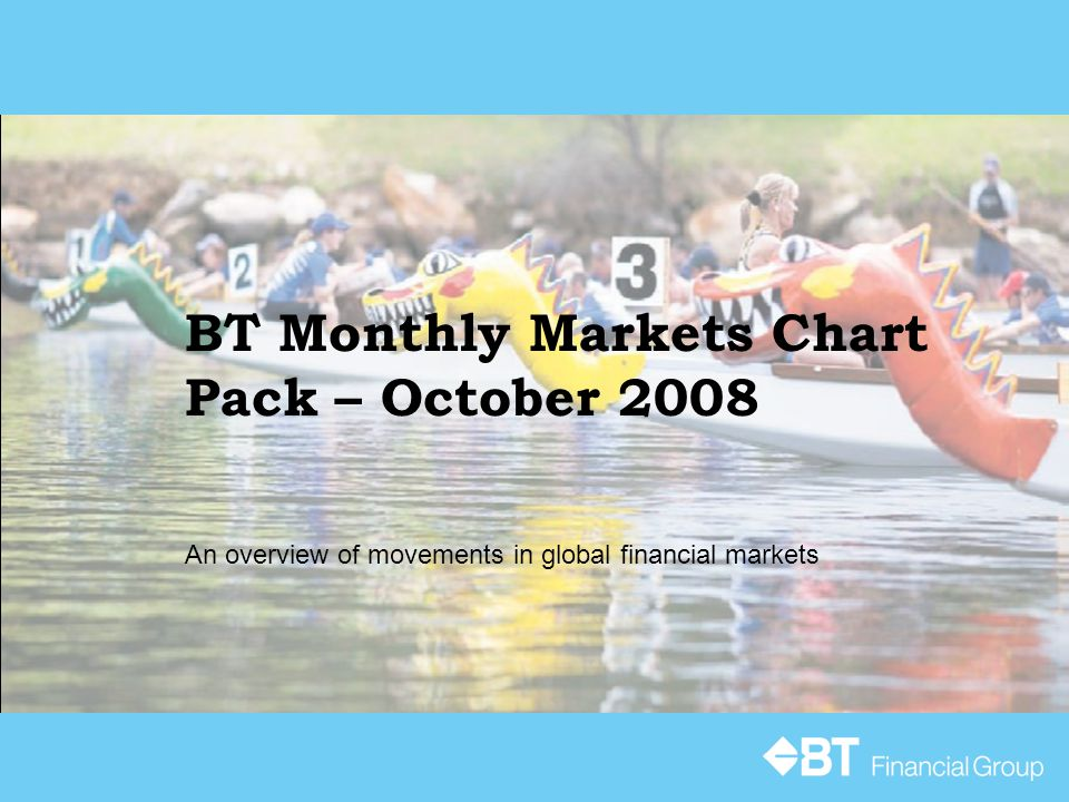 BT Monthly Markets Chart Pack – October 2008 An overview of movements in global financial markets