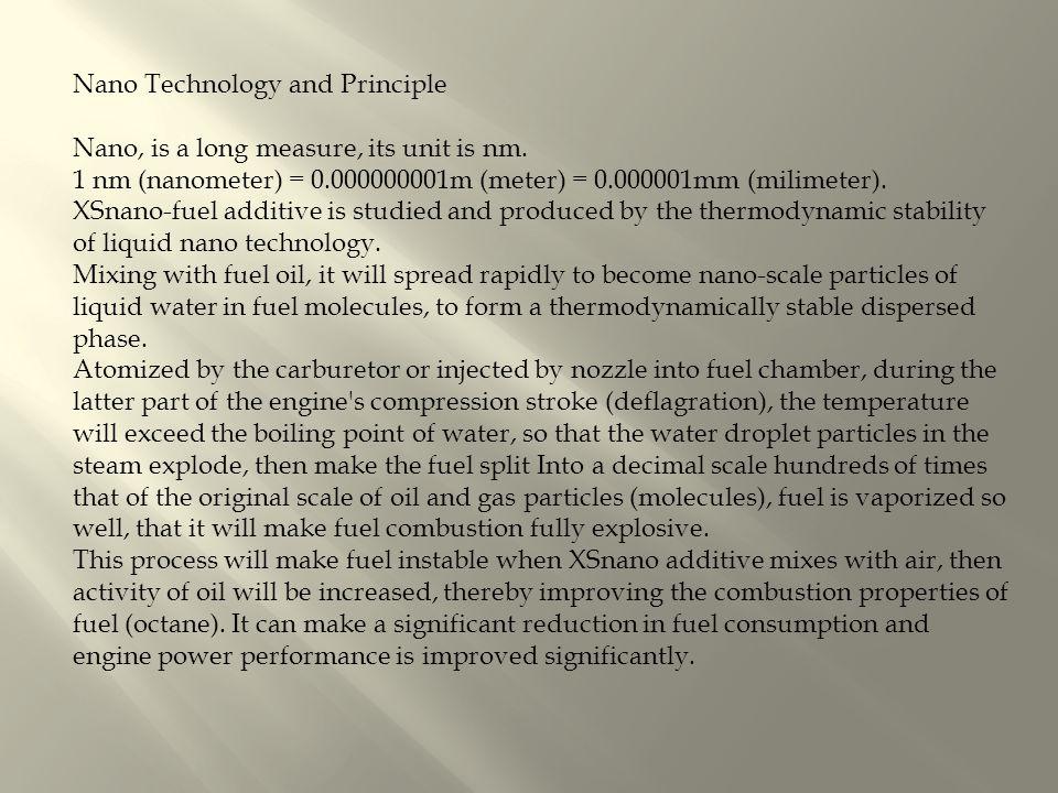Nano Technology and Principle Nano, is a long measure, its unit is nm.
