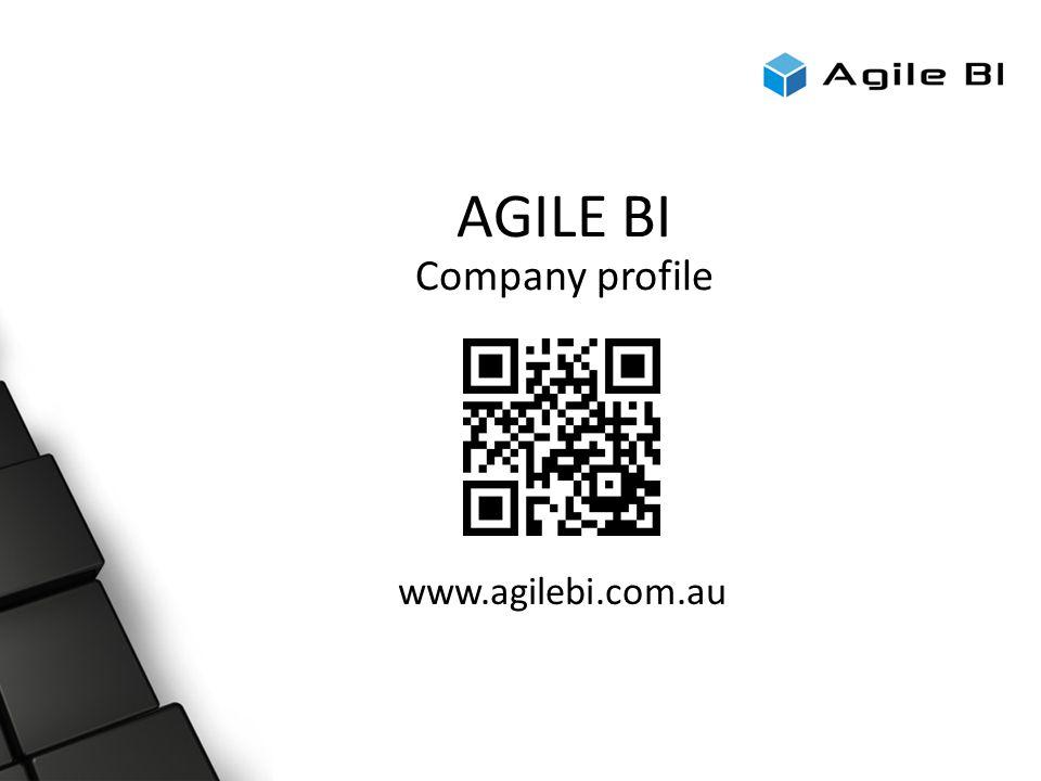 AGILE BI Company profile www.agilebi.com.au