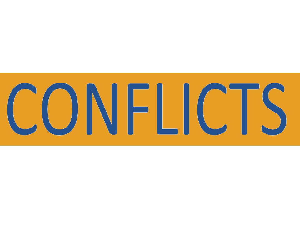 and CONFLICTS