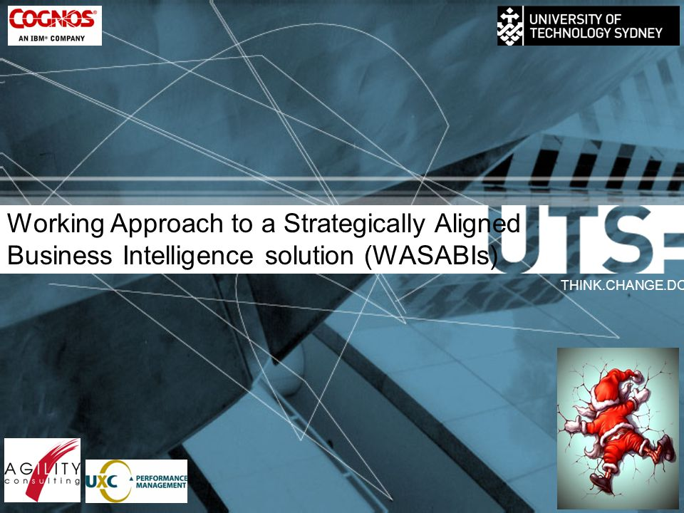 Working Approach to a Strategically Aligned Business Intelligence solution (WASABIs) THINK.CHANGE.DO