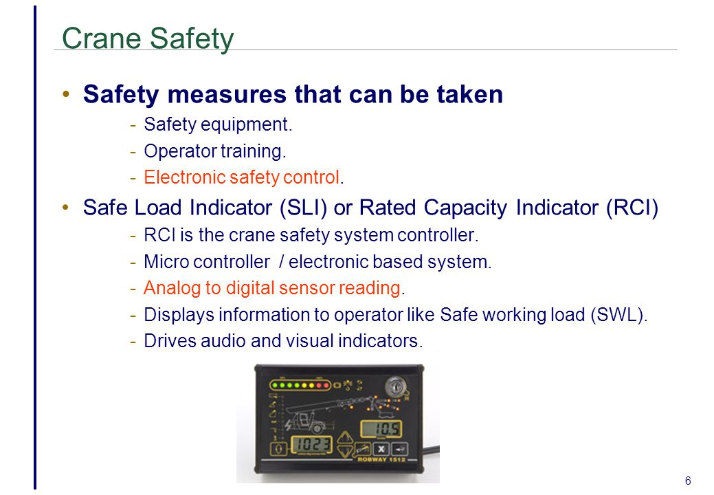6 Crane Safety Safety measures that can be taken - Safety equipment.