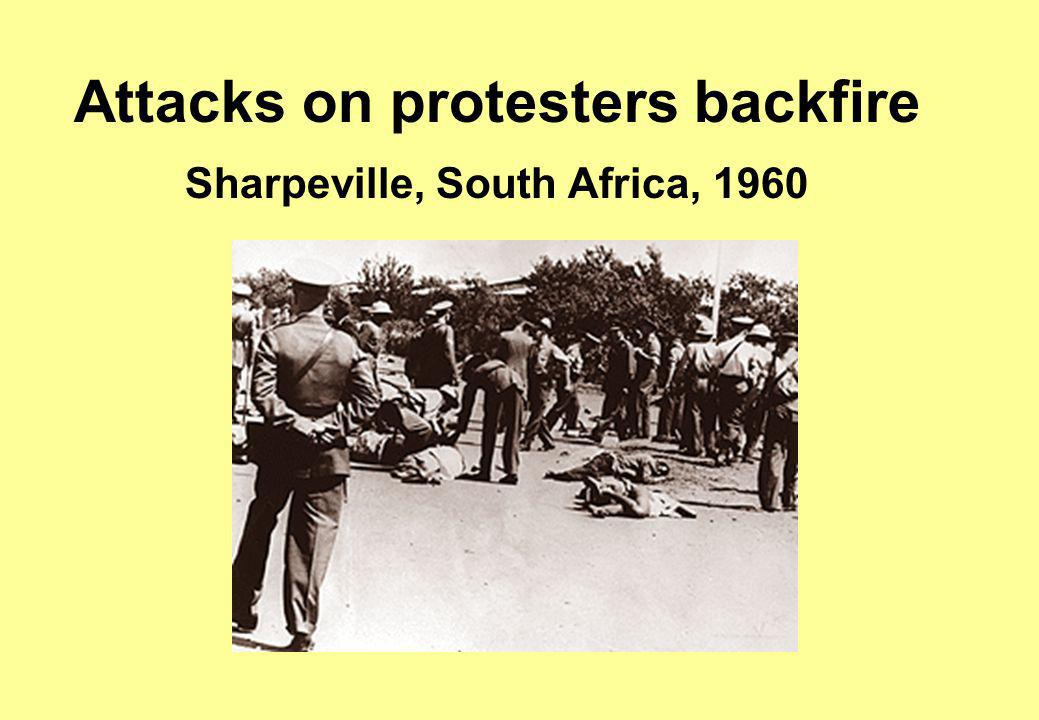 Attacks on protesters backfire Sharpeville, South Africa, 1960