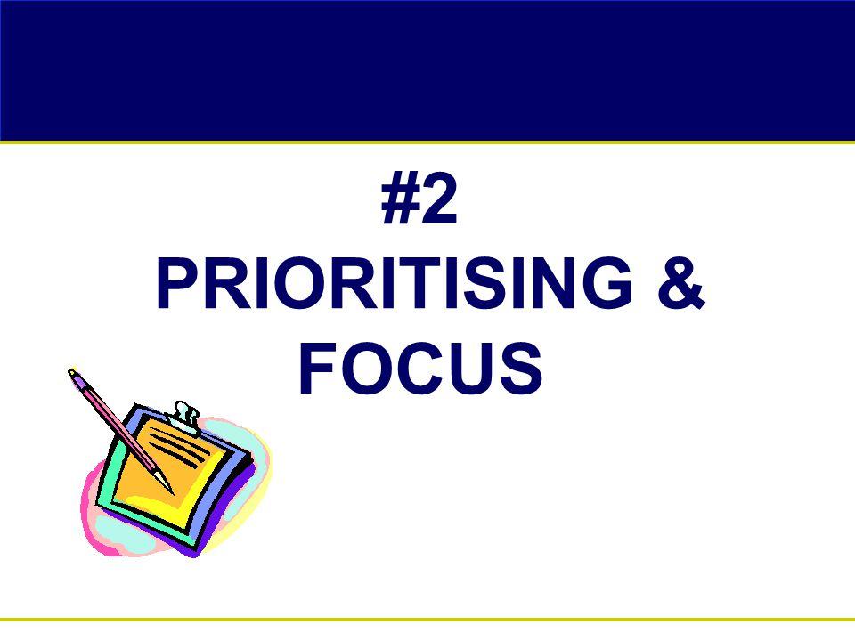 #2 PRIORITISING & FOCUS
