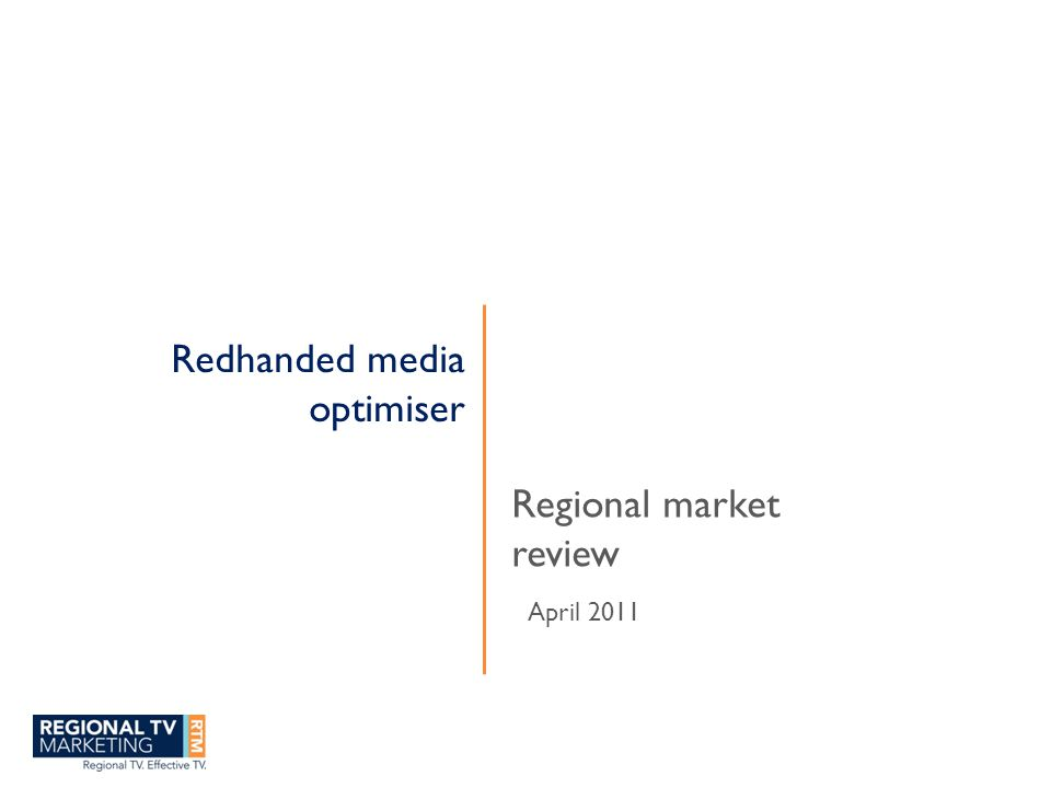 Free to Air TV in Regional Australia Getting the best out of regional TV – understanding consumer and market profile Power and role of TV in regional Australia Building brands in regional Australia Measuring effectiveness in regional markets Future of TV
