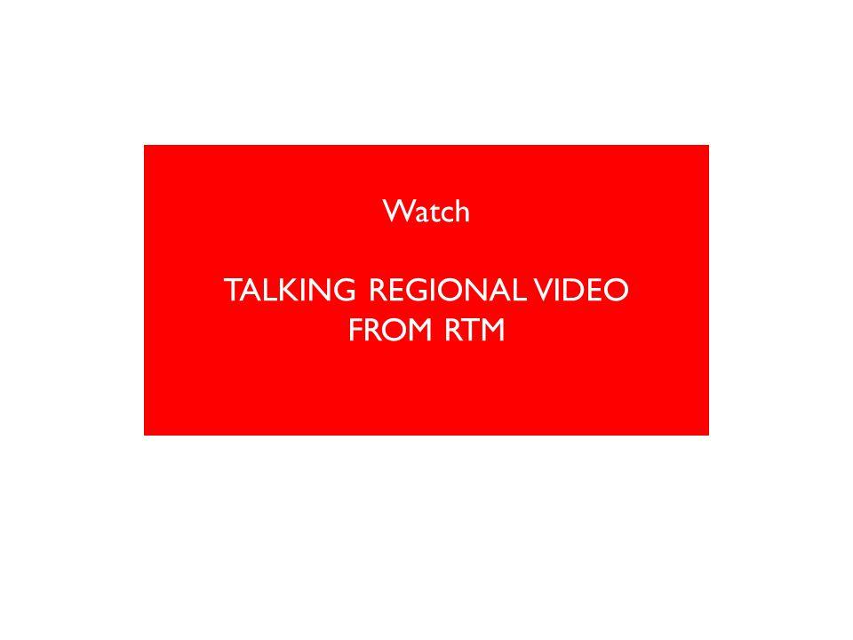 Watch TALKING REGIONAL VIDEO FROM RTM