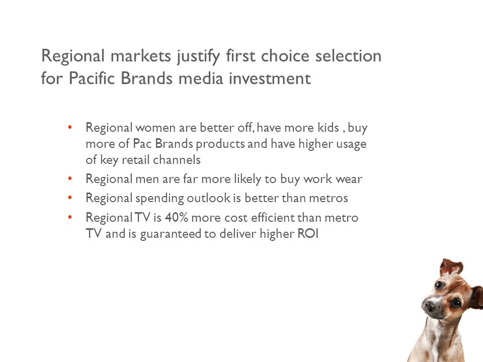 Regional TV covers all areas outside capital cities and reaches 36% of population QLD NNSW SNSW TAS VIC REG.