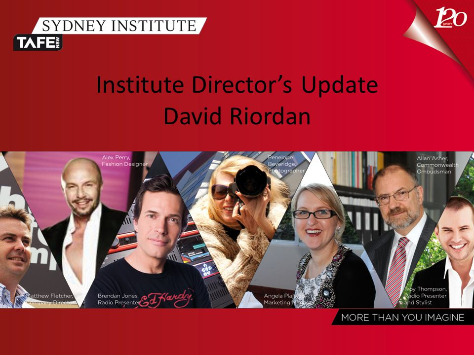 Institute Director's Update David Riordan