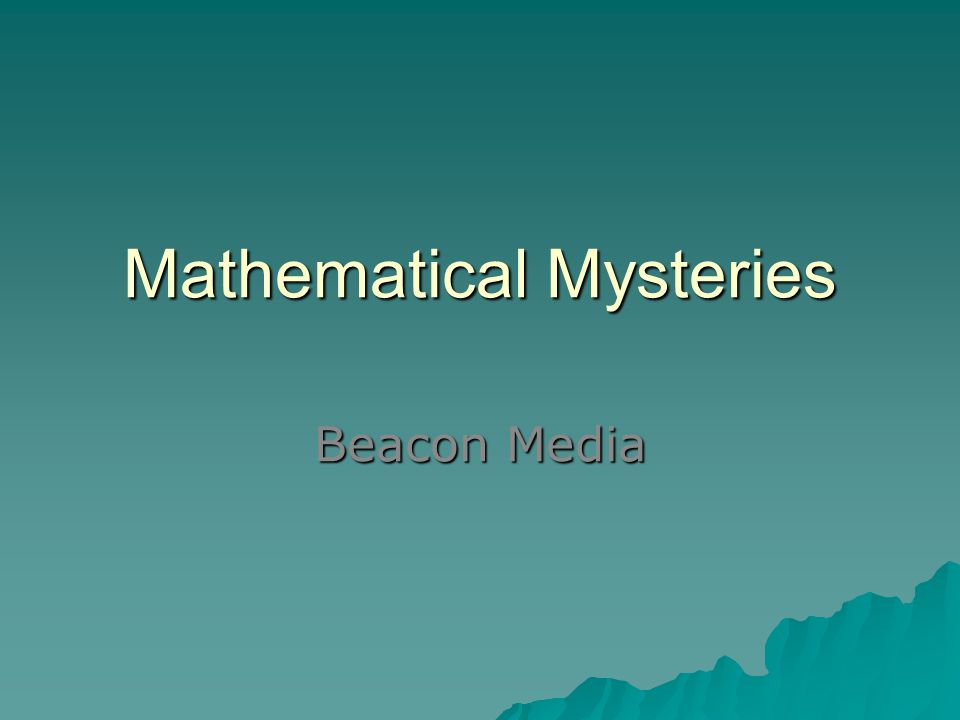Mathematical Mysteries Beacon Media