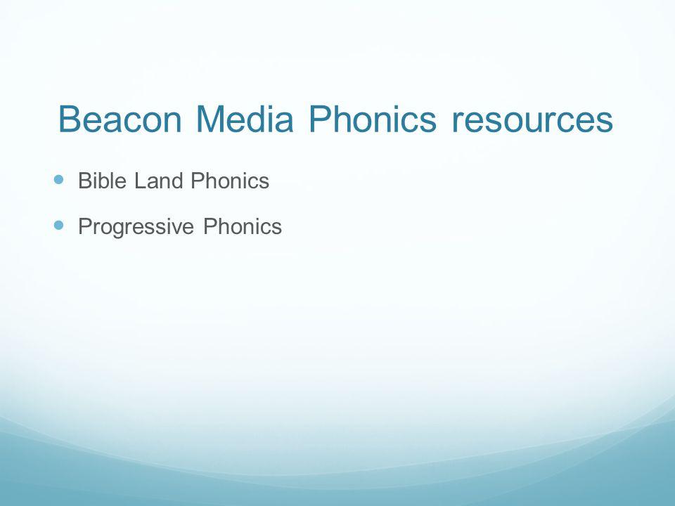 Beacon Media Phonics resources Bible Land Phonics Progressive Phonics