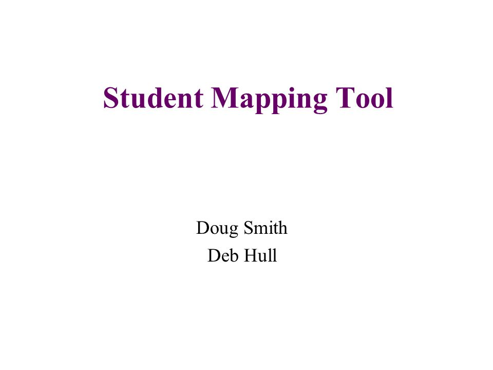 The student mapping tool...