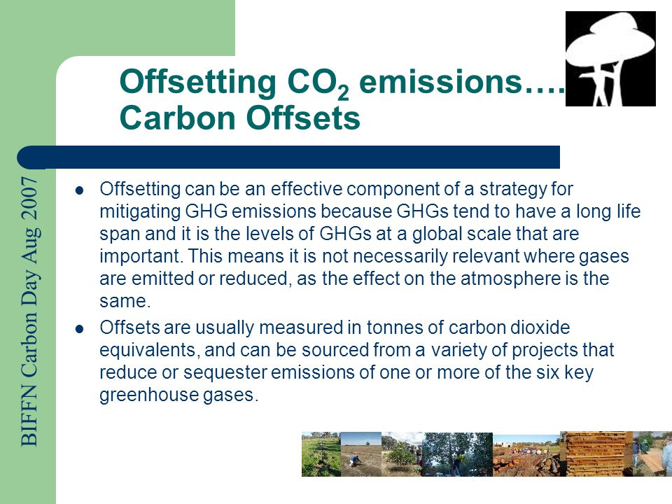 BIFFN Carbon Day Aug 2007 Why have offsets become such a hot commodity.