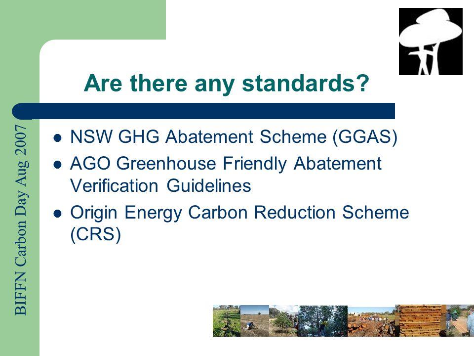 BIFFN Carbon Day Aug 2007 Carbon Offset Providers RMIT recently released a report on Carbon Offset Providers in Australia 2007 The handout you have summarises all of the Australian products available