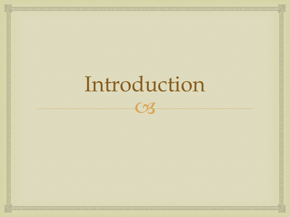  Introduction