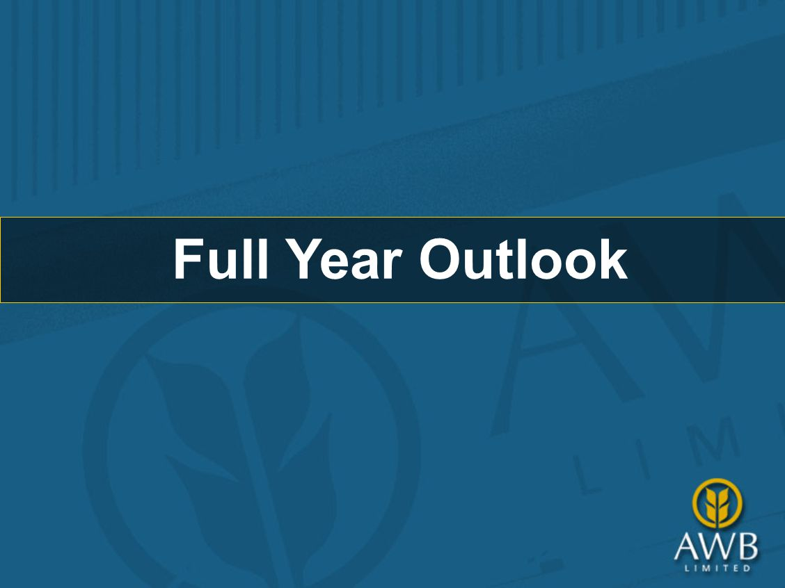 Full Year Outlook