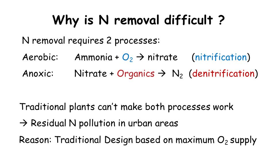 Why is N removal difficult .
