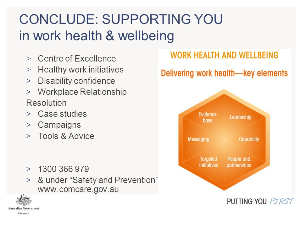 CONCLUDE: SUPPORTING YOU in work health & wellbeing >Centre of Excellence >Healthy work initiatives >Disability confidence >Workplace Relationship Res