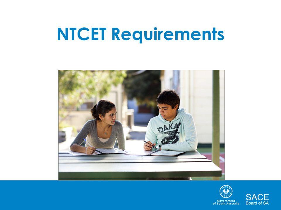 NTCET Requirements