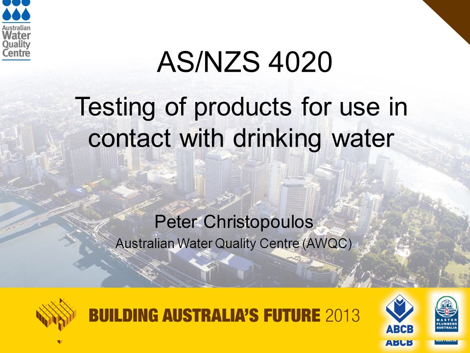 AWQC Australian Water Quality Centre Business unit of the South Australian Water Corporation.