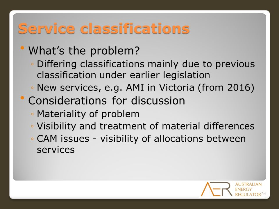 Service classifications What's the problem.
