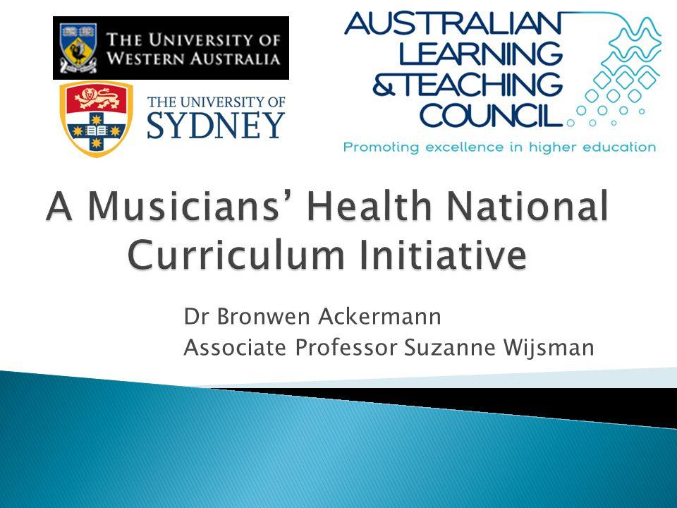 Dr Bronwen Ackermann Associate Professor Suzanne Wijsman