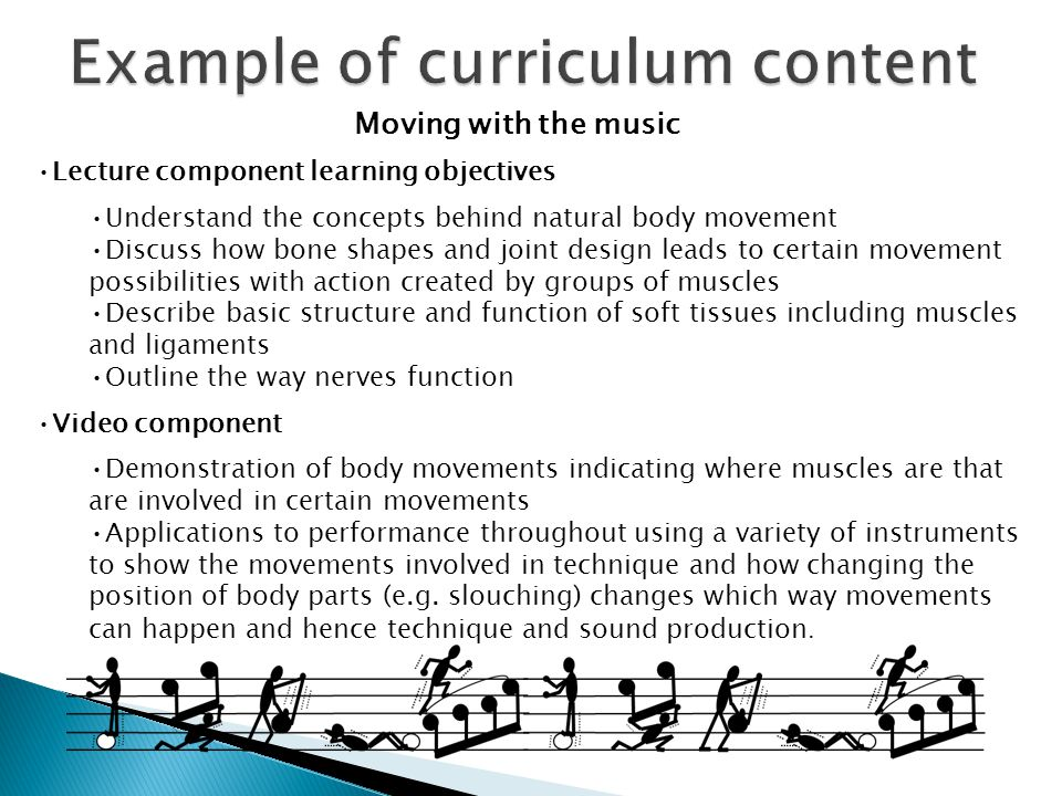 Moving with the music Lecture component learning objectives Understand the concepts behind natural body movement Discuss how bone shapes and joint des