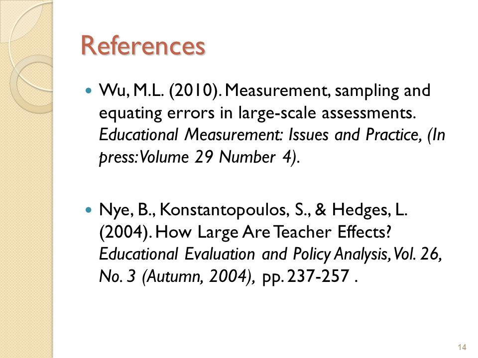14 References Wu, M.L. (2010).