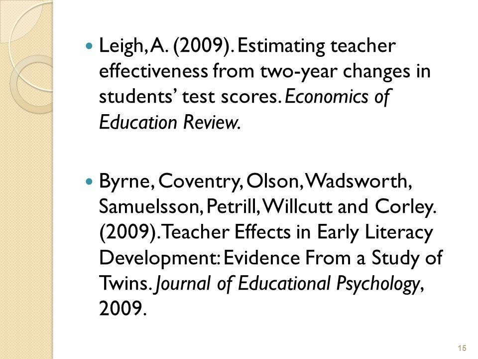 15 Leigh, A. (2009).