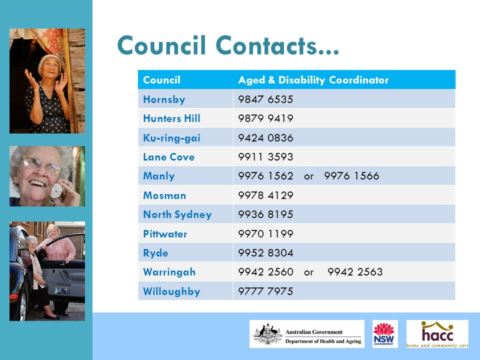 Council Contacts...