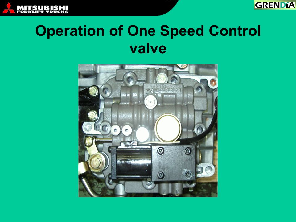 Operation of One Speed Control valve