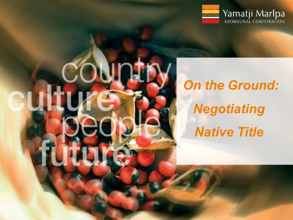 On the Ground: Negotiating Native Title
