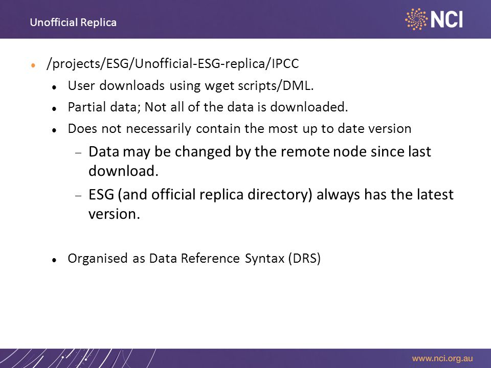 Unofficial Replica /projects/ESG/Unofficial-ESG-replica/IPCC User downloads using wget scripts/DML.