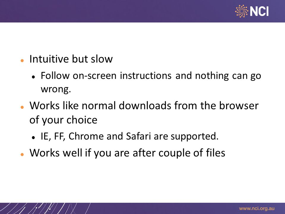 Download – 1 (Web based) Intuitive but slow Follow on-screen instructions and nothing can go wrong.