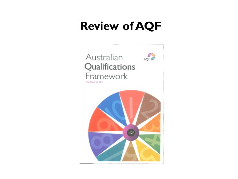 Review of AQF