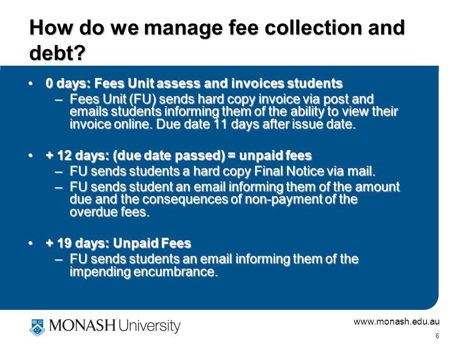 www.monash.edu.au 5 Who Benefits.