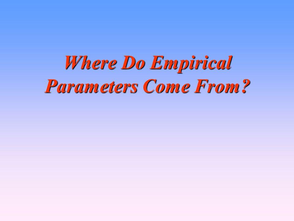 Where Do Empirical Parameters Come From?