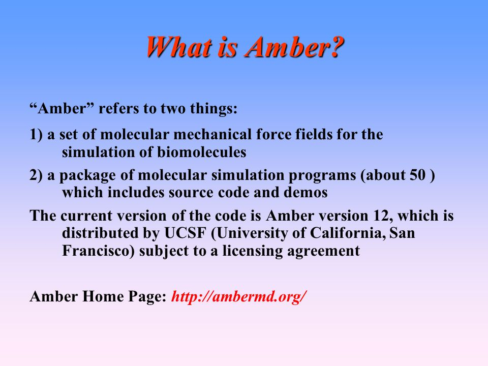 What is Amber.