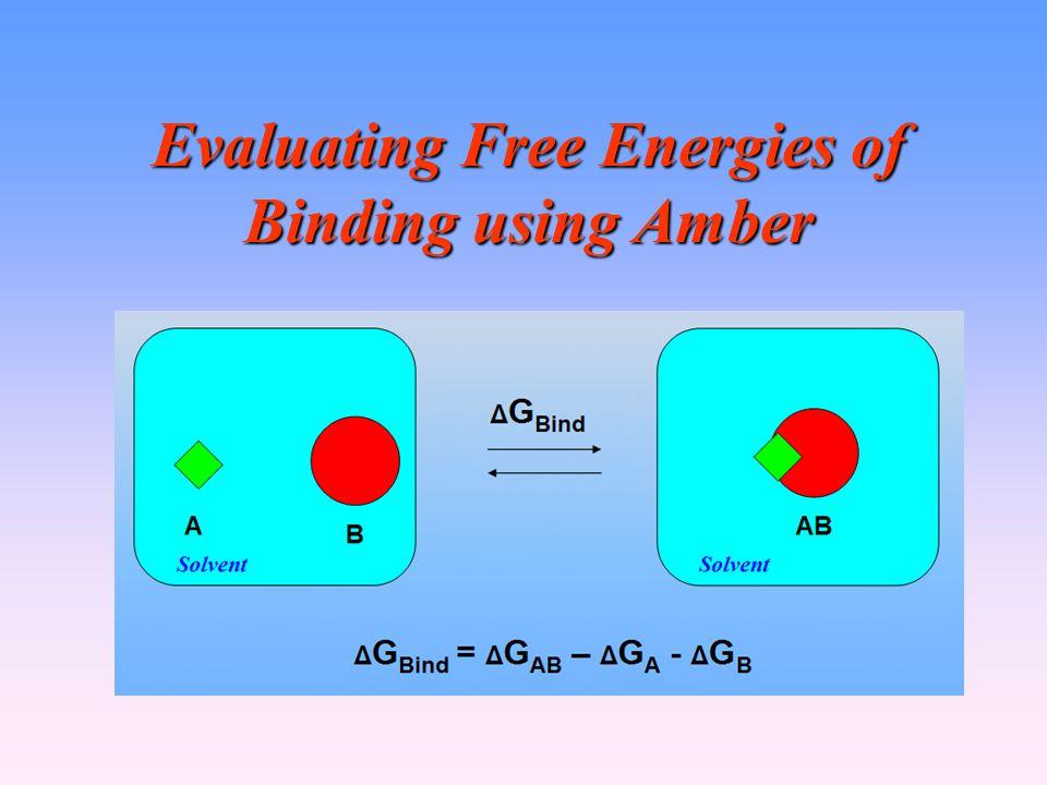 Evaluating Free Energies of Binding using Amber