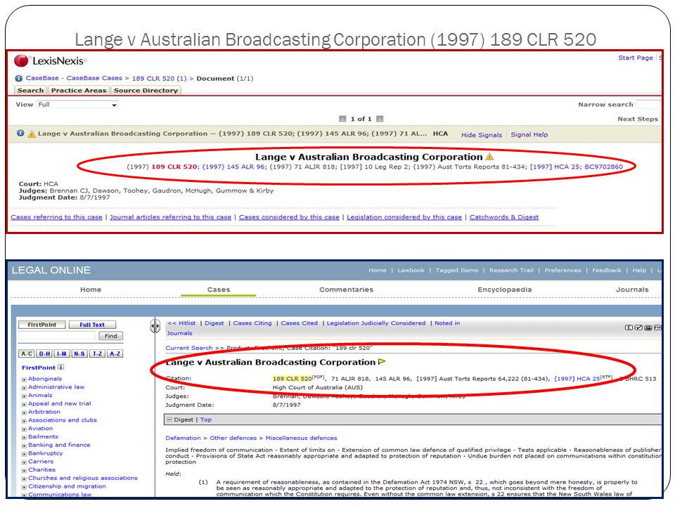 Lange v Australian Broadcasting Corporation (1997) 189 CLR 520