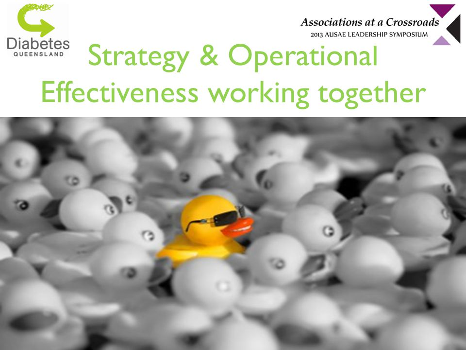 Strategy & Operational Effectiveness working together