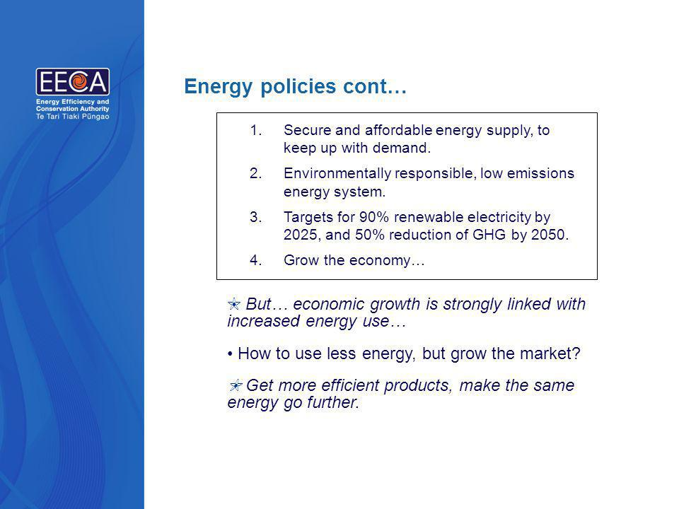 1.Secure and affordable energy supply, to keep up with demand.